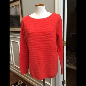 Lands End salmon tunic sweater
